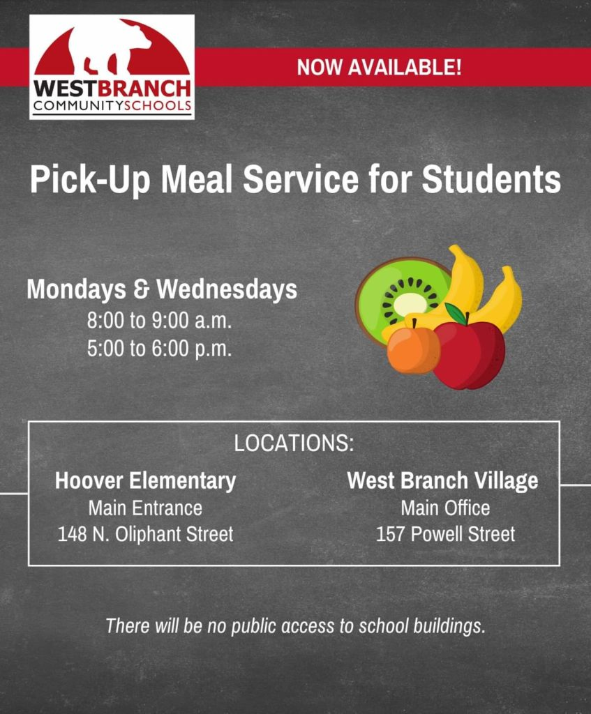 Pick-up Meal Service