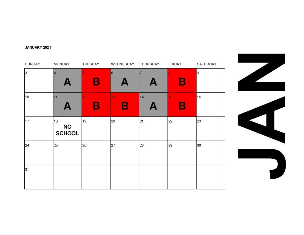 Calendar 2020-21 AB Schedule (Jan)