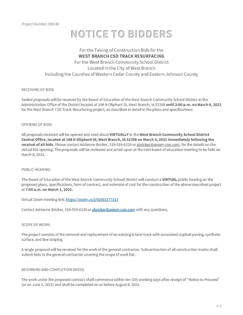 190146 - Notice to Bidders, WBCSD Track Resurfacing - 02.12.2021_Page_1